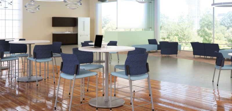 Accommodate Chairs and Arrange Cafe Height Tables