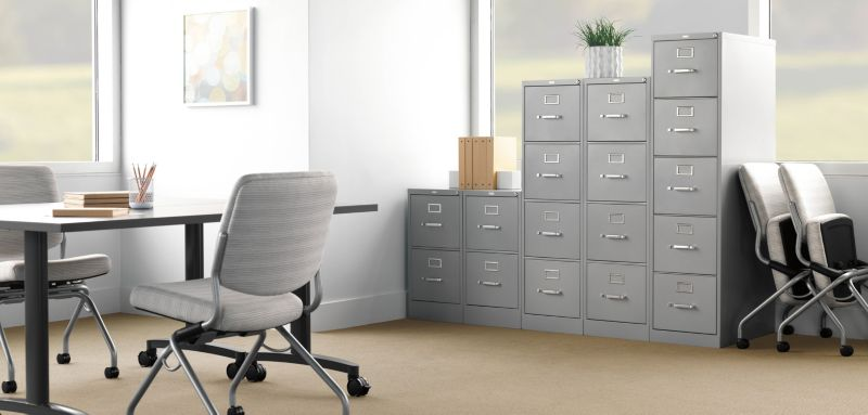 Gray Vertical File Cabinets