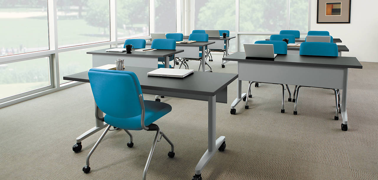 Huddle Training Tables with Perpetual Chairs