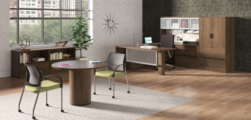 10700 Series U Shaped Desks in a Private Office