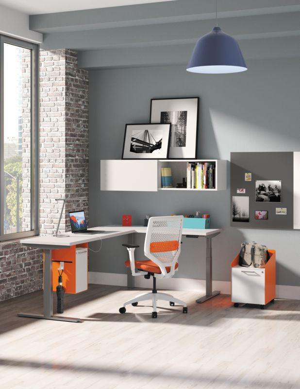 Solve Chairs with Fuse Storage in Orange