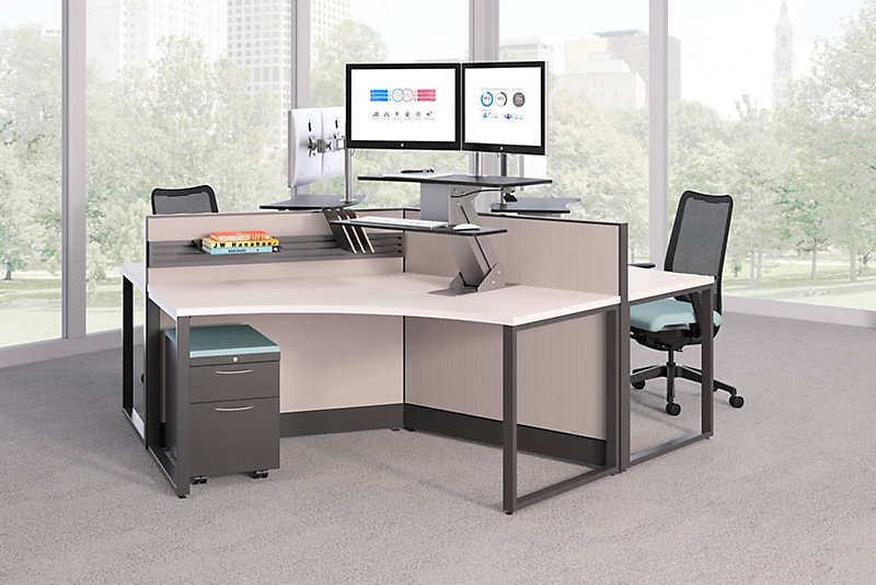 Coordinate Height Adjustable Base HON Office Furniture - Hon computer table