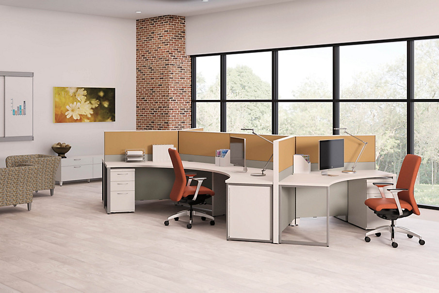 Abound Workstations with Nucleus Chairs and Flagship Storage