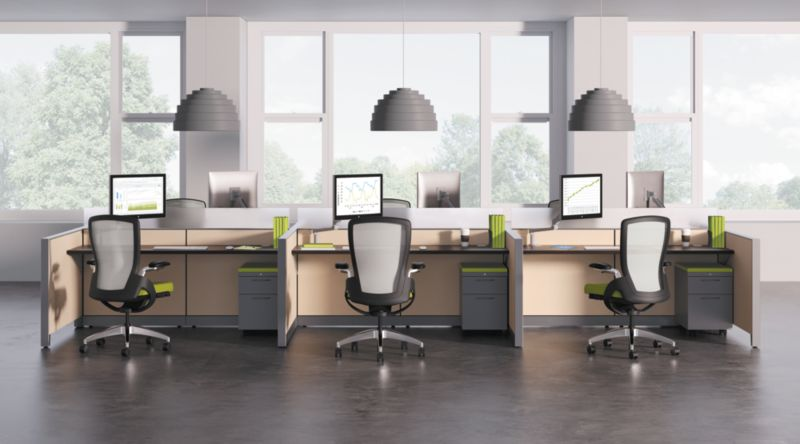 Ceres Chairs with Abound Panels and Flagship Storage