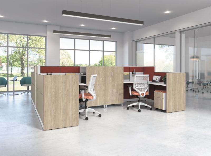 Abound office panels with Solve chairs