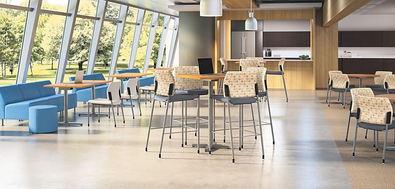 Accommodate Chairs and Arrange Cafe Tables in a Commons Environment