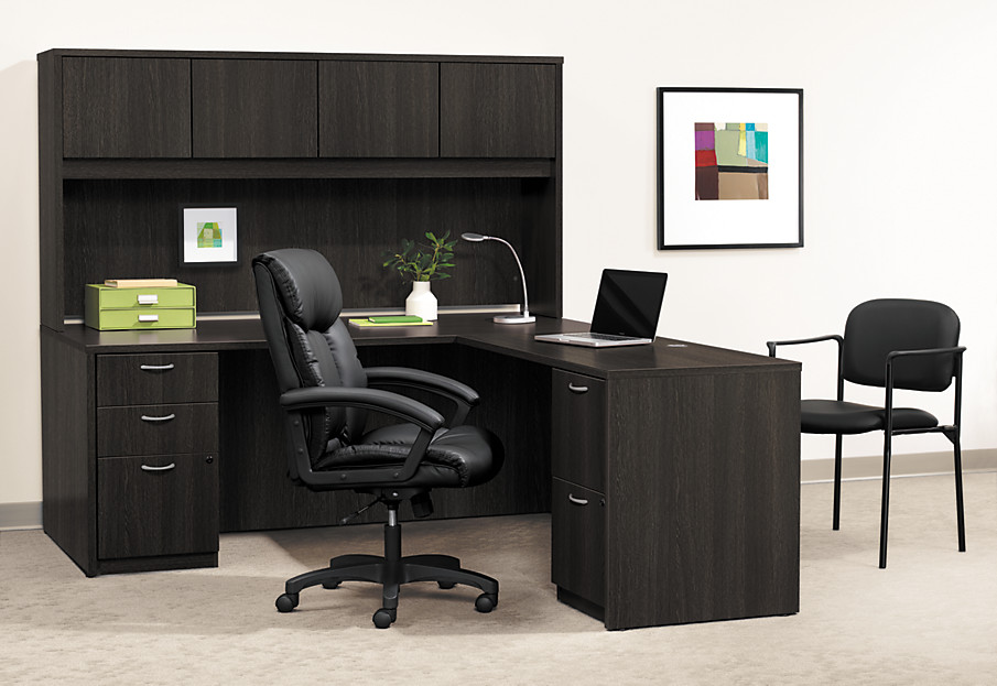 BL Series Laminate Desk in Espresso