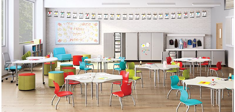 SmartLink Chairs and Desks in an educational space