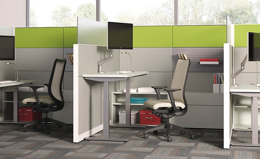 Coordinate Height Adjustable Base Table with Abound Workstation