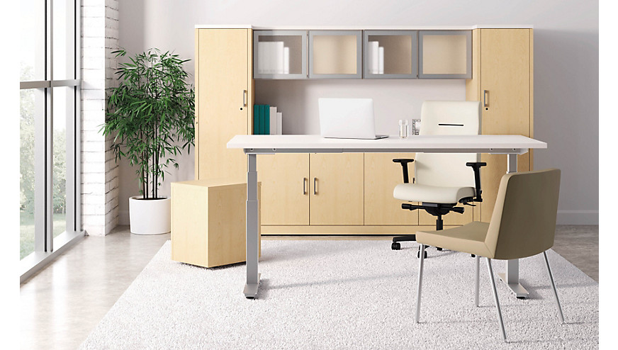 coordinate height adjustable base | hon office furniture