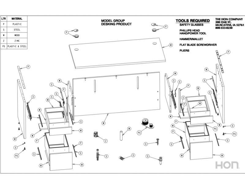 Desks Disassembly Instructions