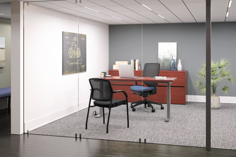 Lota Guest Chair with Solve Chair and 10500 Office