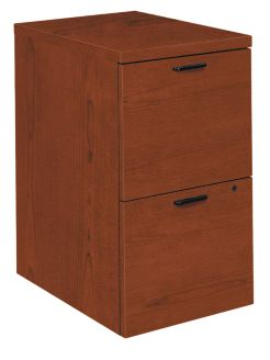 HON 10500Series Mobile Pedestal Brown Front Side View H105104.JJ