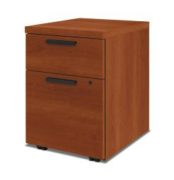 HON 10500Series Mobile Pedestal Cognac Front Side View H105106.COGN