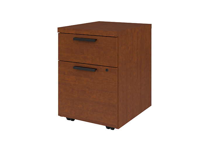 HON 10500Series Mobile Pedestal Brown Front Side View H105106.JJ