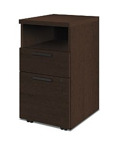 HON 10500Series Mobile Pedestal Mocha Front Side View H105109.MOCHMOCH