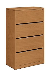 HON 10500Series 4-Drawer Lateral File Harvest Front Side View H10516.CC