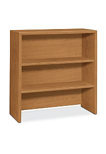 HON 10500Series 2-Shelf Bookcase Hutch Harvest Front Side View H105292.CC