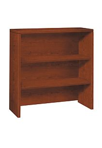 HON 10500Series 2-Shelf Bookcase Hutch Brown Front Side View H105292.JJ