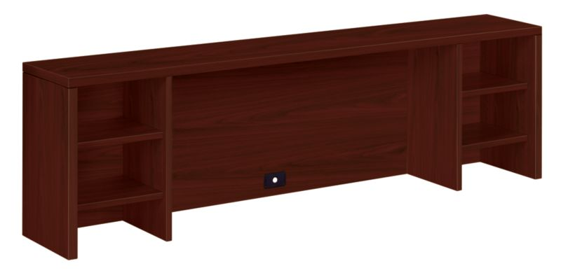 HON 10500 Series Stack-On Organizer Mahogany Color Front Side View H105388.NN