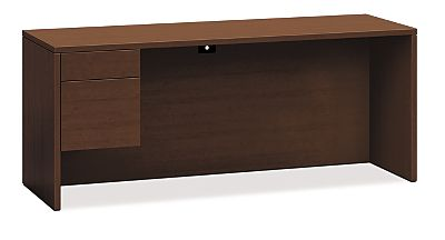 HON 10500 Series Left Credenza Shaker Cherry Front Side View H10546L.FF