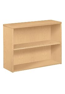HON 10500 Series 2-Shelf Bookcase Natural Maple Front Side View H105532.DD