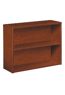 HON 10500 Series 2-Shelf Bookcase Brown Front Side View H105532.JJ