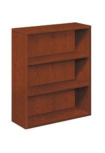HON 10500 Series 3-Shelf Bookcase Brown Front Side View H105533.JJ