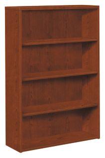 HOn 10500 Series 4-Shelf Bookcase Brown Front Side View H105534.JJ