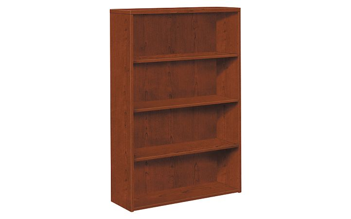 HOn 10500 Series 4-Shelf Bookcase Brown Front Side View H105534.JJ