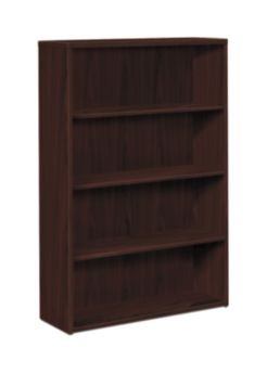 HOn 10500 Series 4-Shelf Bookcase Mahogany Front Side View H105534.NN