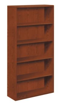 HON 10500 Series 5-Shelf Bookcase Brown Front Side View H105535.JJ