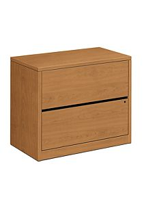 HON 10500 Series 2-Drawer Lateral File Harvest Front Side View H10563.CC