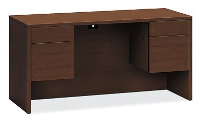 HON 10500 Series Kneespace Credenza Shaker Cherry Front View H10565.FF