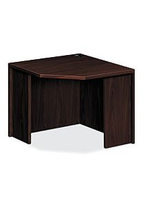 HON 10500 Series Corner Desk Mahogany Front Side View H105811.NN