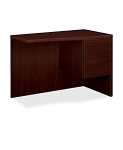 HON 10500 Series Curved Right Return Mahogany Front Side View H105817R.NN
