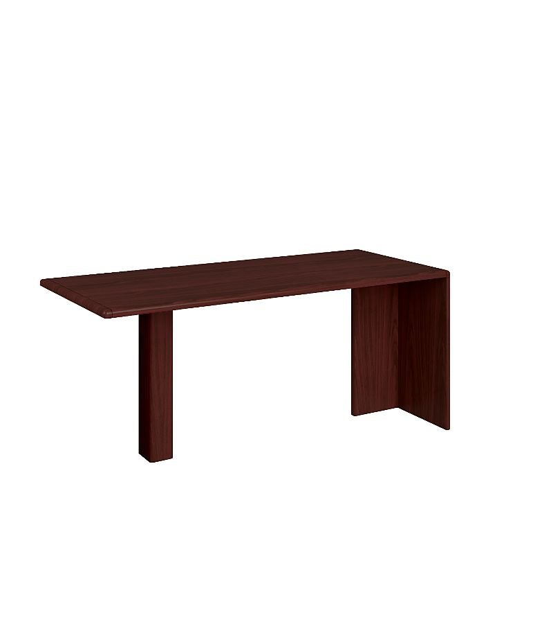 HON 10700 Series Peninsula Desk Mahogany Front Side View H10724.NN