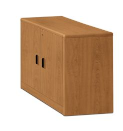 HON 10700 Series Storage Cabinet Harvest Front Side View H107291.CC