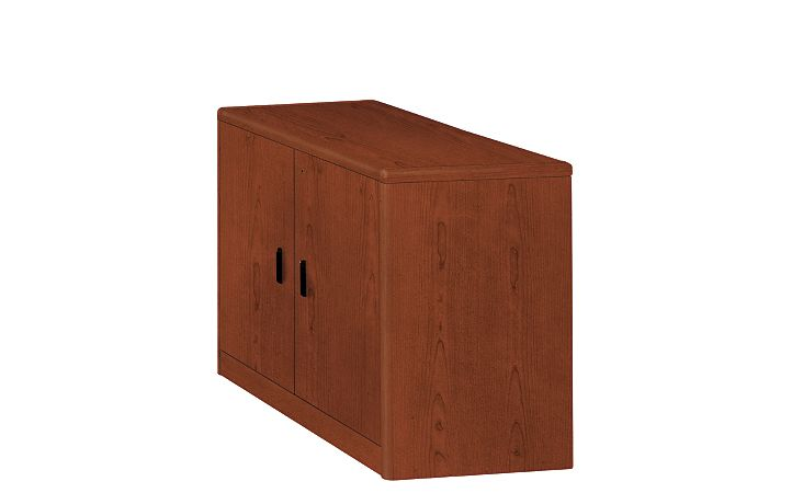 HON 10700 Series Storage Cabinet Brown Front Side View H107291.JJ