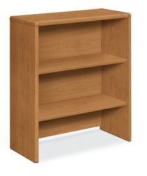 HON 10700 Series Bookcase Hutch Harvest Front Side View H107292.CC