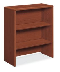 HON 10700 Series Bookcase Hutch Brown Front Side View H107292.JJ