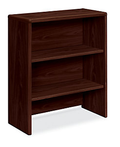HON 10700 Series Bookcase Hutch Mahogany Front Side View H107292.NN