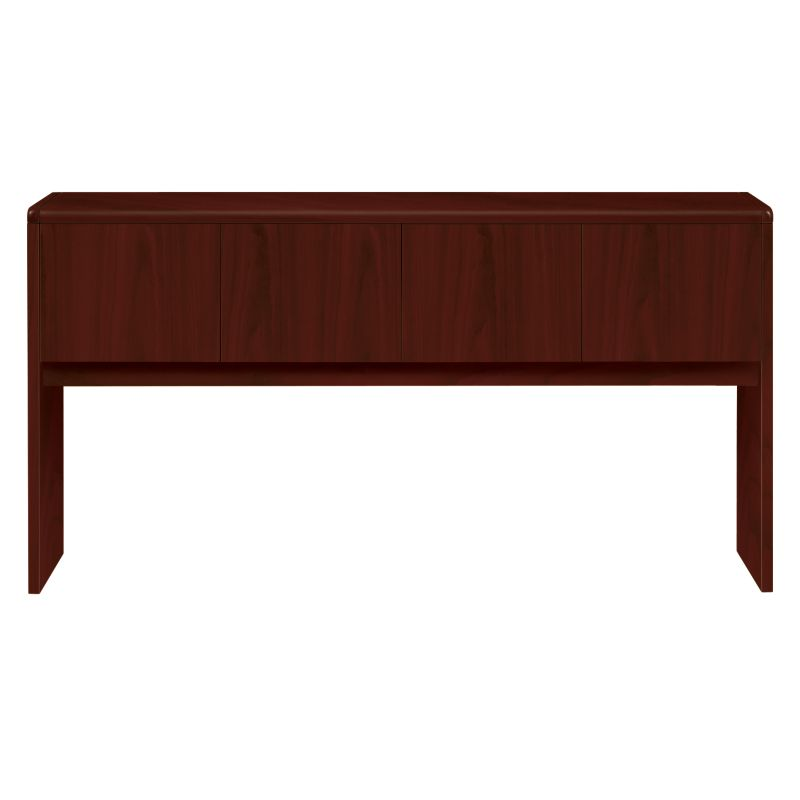 HON 10700 Series Stack-On Hutch Mahogany Front Side View H107318.NN