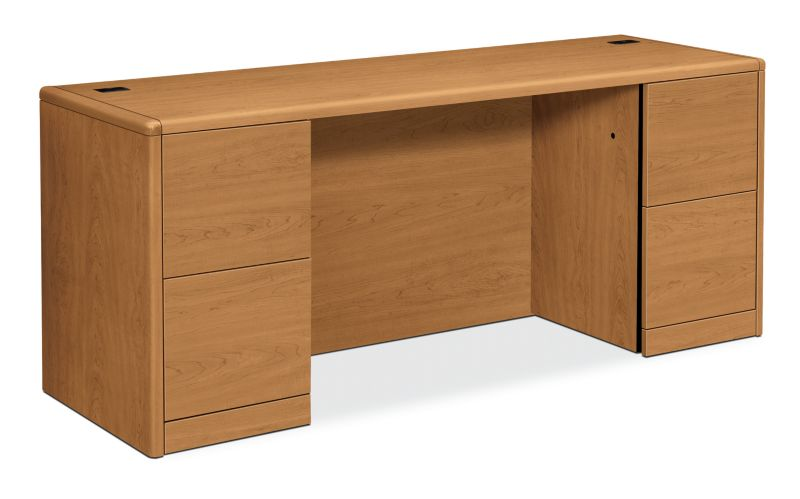 HON 10700 Series Double Credenza Harvest Front Side View H10741.CC