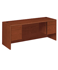 HON 10700 Series Double Credenza Brown Front Side View H10743.JJ