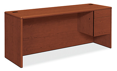 HON 10700 Series Right Credenza Brown Front Side View H10745R.JJ