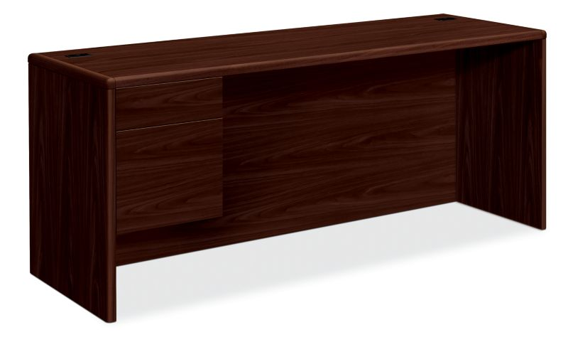 HON 10700 Series Left Credenza Mahogany Front Side View H10746L.NN