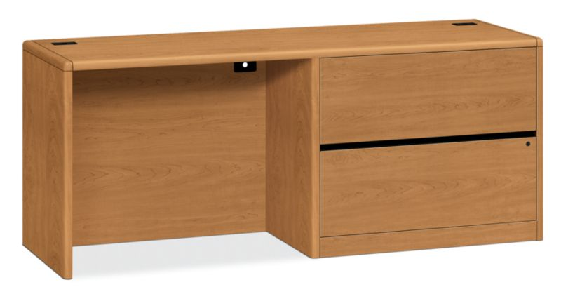 HON 10700 Series Right Credenza Harvest Front Side View H10747R.CC