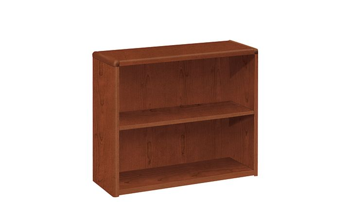 HON 10700 Series 2-Shelf Bookcase Brown Front Side View H10752.JJ