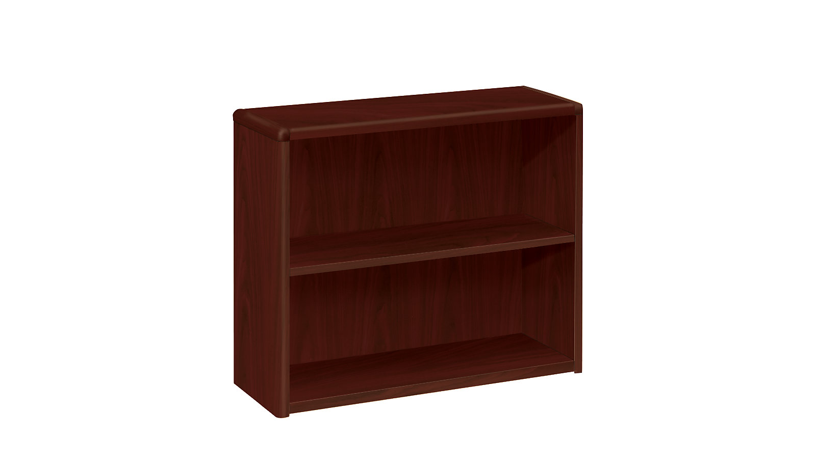 HON 10700 Series 2 Shelf Bookcase Mahogany Front Side View H10752NN